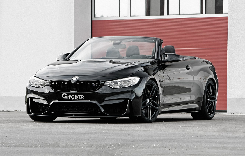 Photo wallpaper black, BMW, BMW, convertible, G-Power, Black, Cabrio, F83