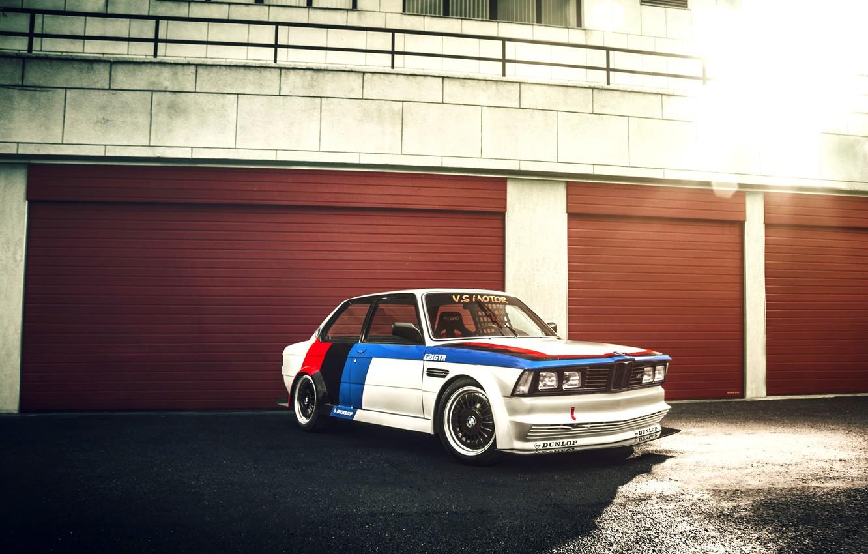 Photo wallpaper BMW, GTR, white, Blik, front, race car, 3 Series, kit, E21, GFL
