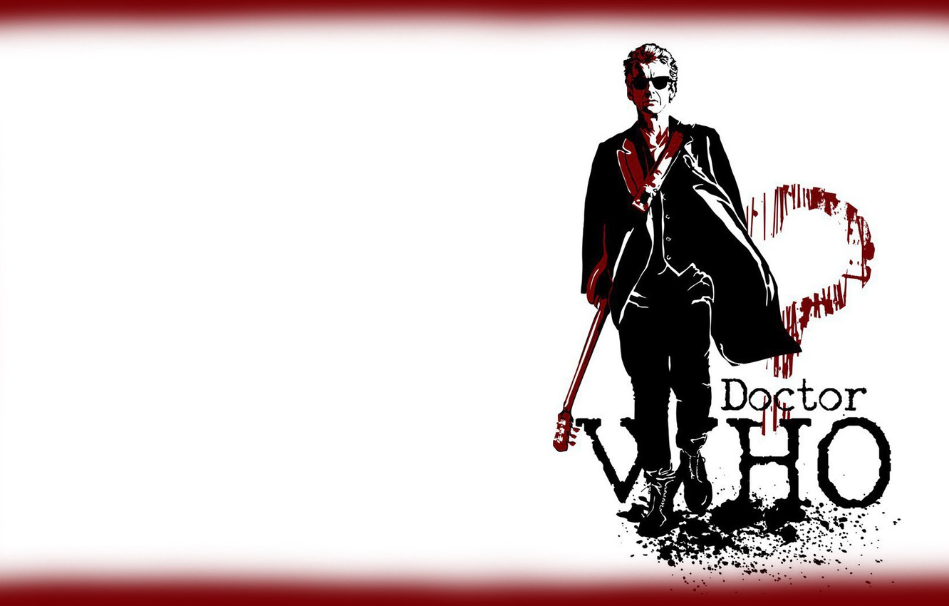Wallpaper Guitar Art Glasses Doctor Who Doctor Who The Twelfth