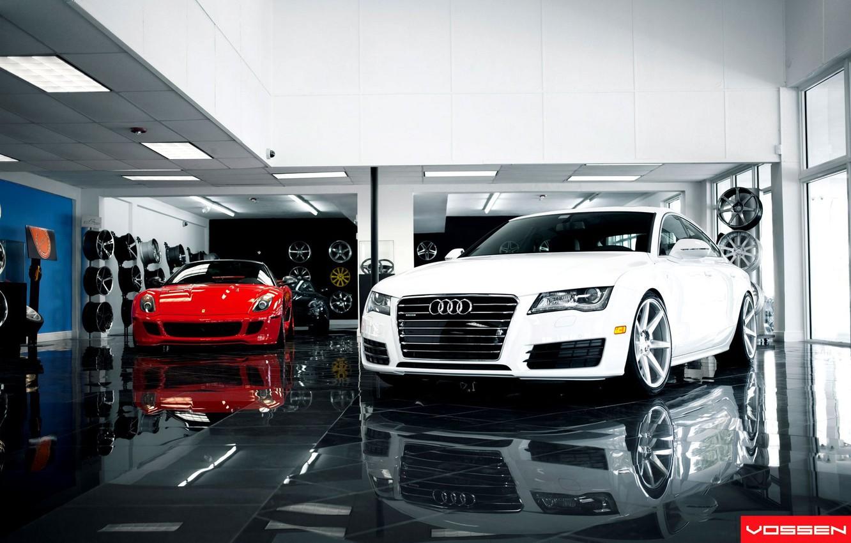 Photo wallpaper Tuning, Desktop, Machine, Car, Car, Wallpapers, Ferrari 599, Sportcars, Audi A7, Wallpaper, Automobiles, Voss, Vossen, …