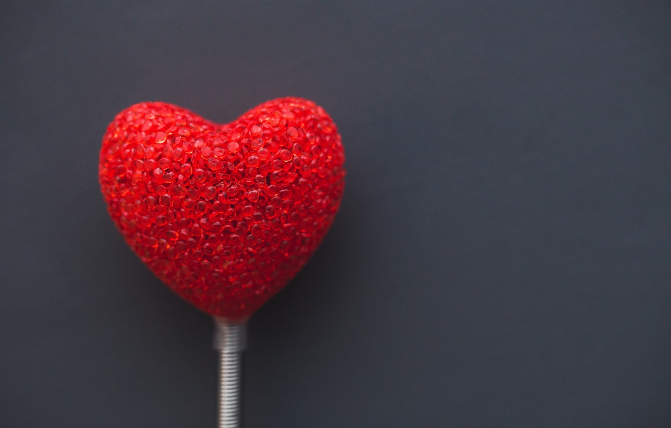 Photo wallpaper red, love, heart, romantic, valentines day