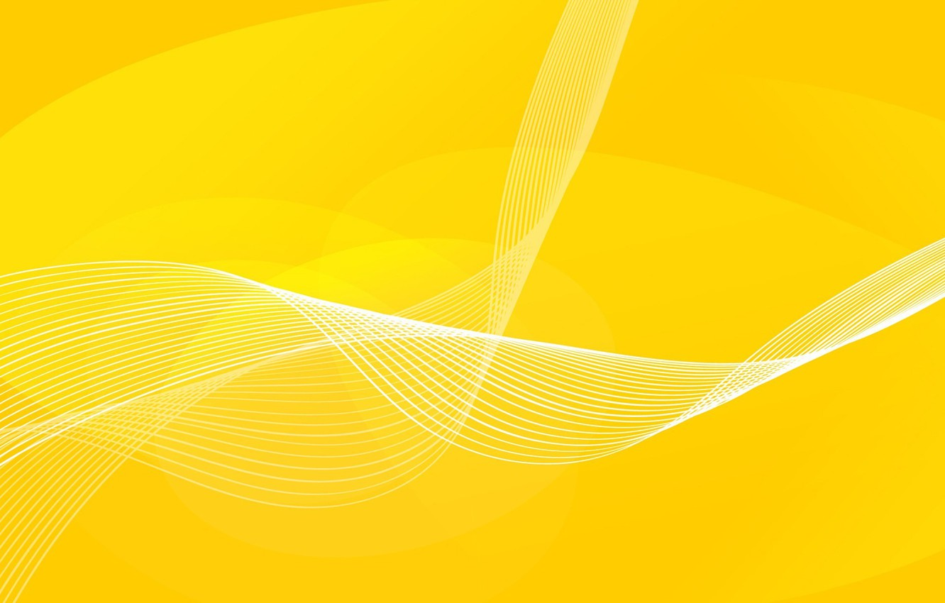 Photo wallpaper line, yellow, curves