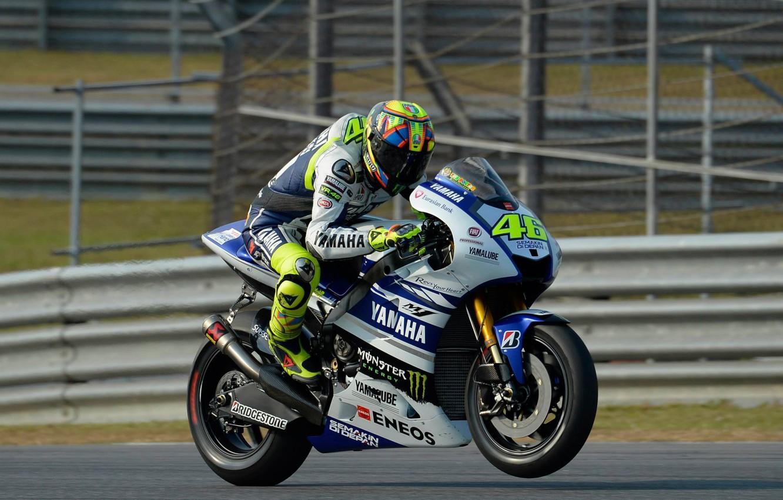 Photo wallpaper motogp, Valentino Rossi, 2014, test yamaha
