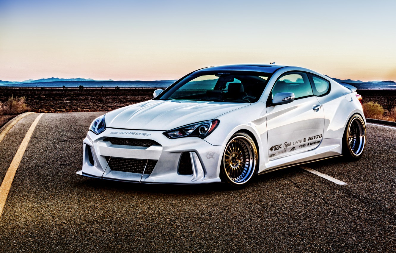 Photo wallpaper Hyundai, Coupe, Genesis, Genesis, ARK Performance, Hyundai