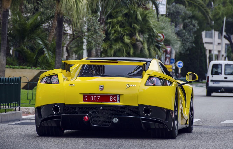 Photo wallpaper supercar, yellow, GTA, Spano, Spania