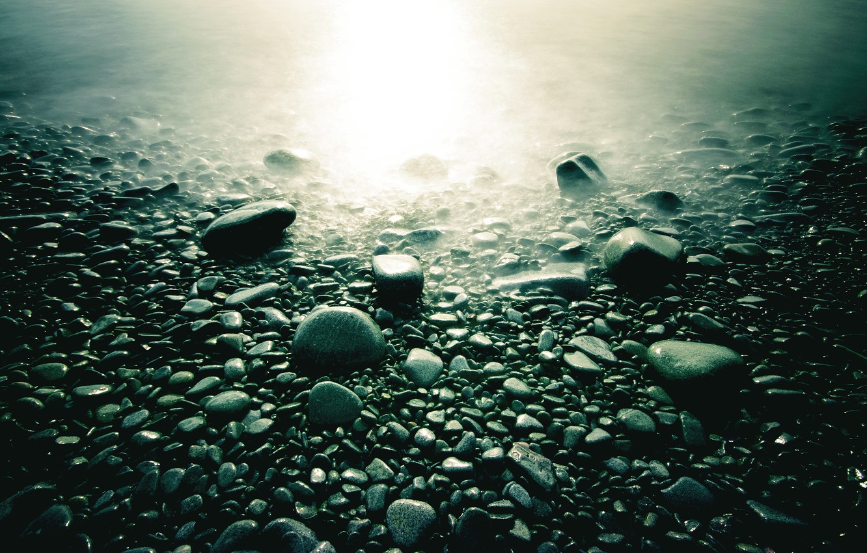 Photo wallpaper macro, light, stones, photo