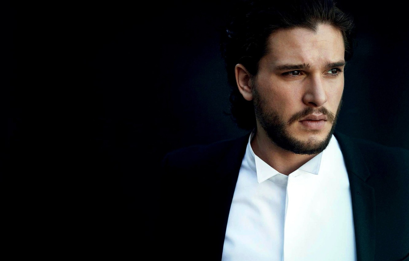 Photo wallpaper look, face, actor, male, shirt, Kit Harington, Kit Harington, Harington