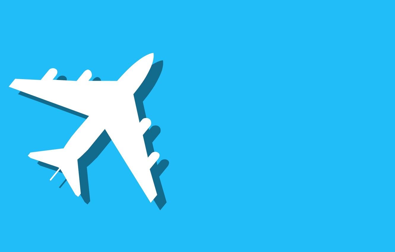 Wallpaper The Plane Background Minimalism Images For Desktop Section Minimalizm Download