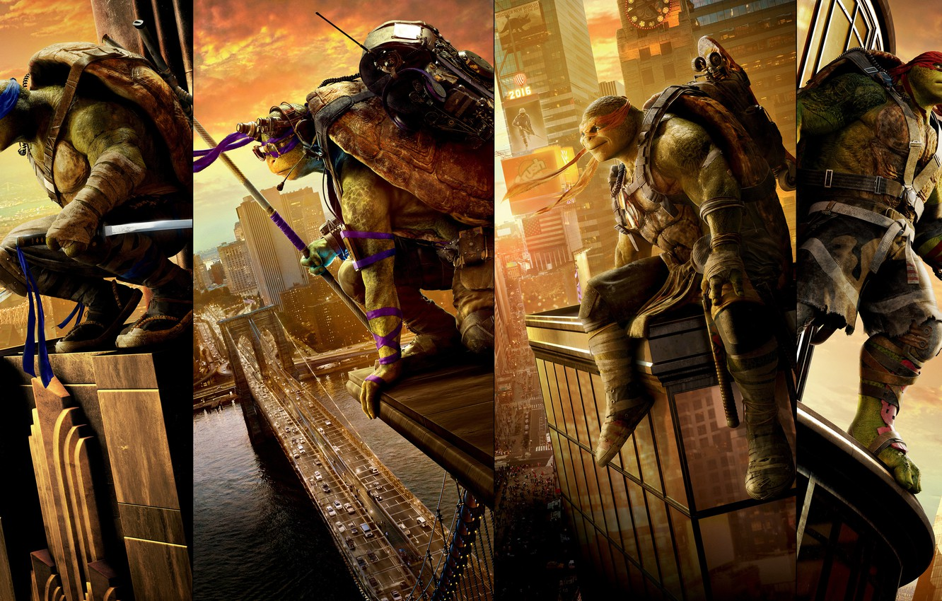 Wallpaper fantasy four poster Raphael Leonardo Donatello