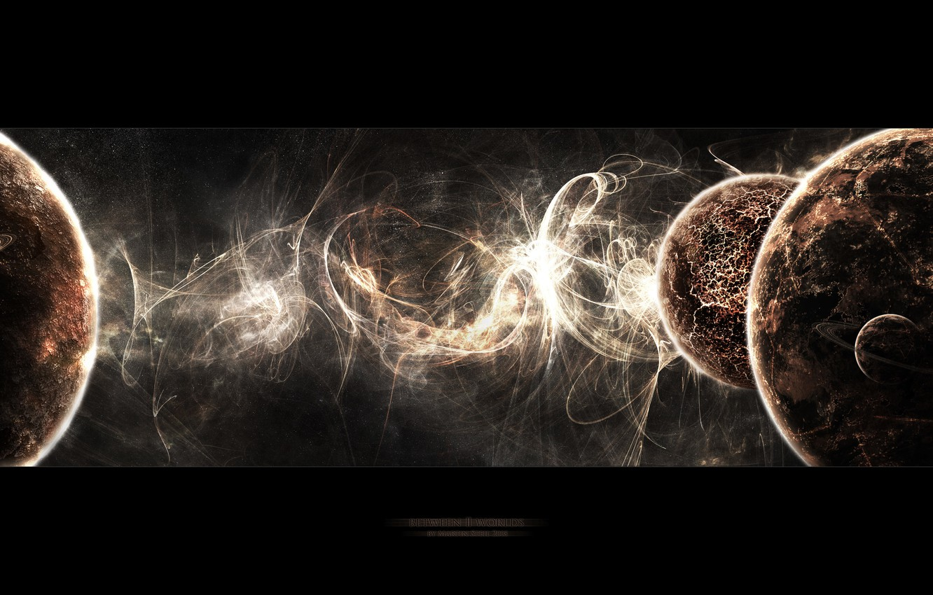 Photo wallpaper space, planets, worlds