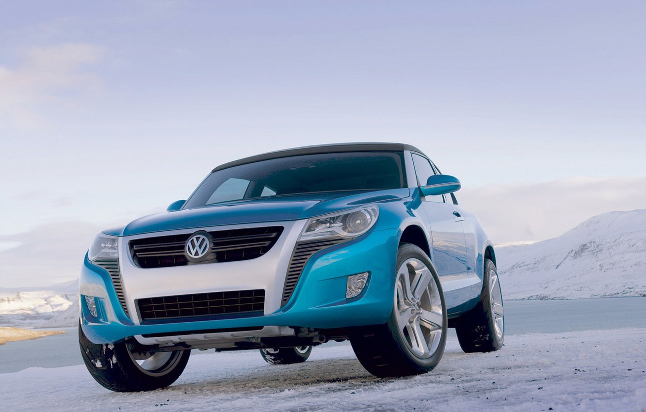 Photo wallpaper the sky, ice, Volkswagen, Bay, Concept A
