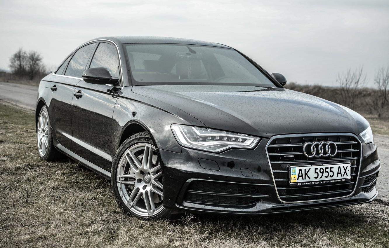 Photo wallpaper Audi, Audi, Black, Audi A6 C7, LEDs