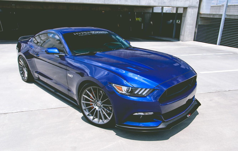Photo wallpaper Mustang, Ford, 5.0, Hyper, Motive