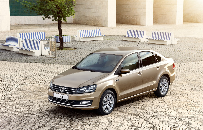 Photo wallpaper Volkswagen, sedan, Volkswagen, Sedan, Polo, Polo, 2015, Type 6R