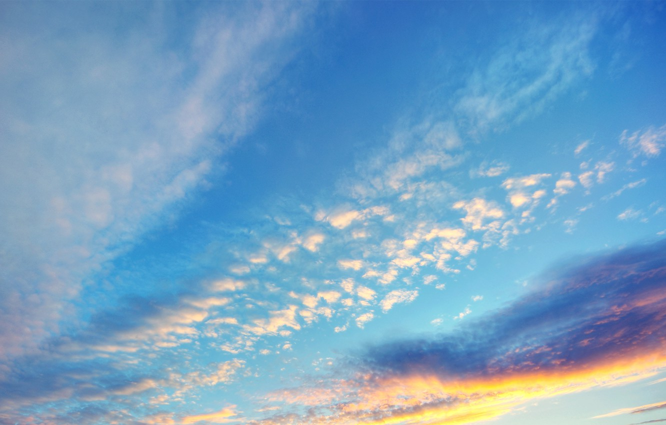 Photo wallpaper sunset, the evening, the sky. clouds
