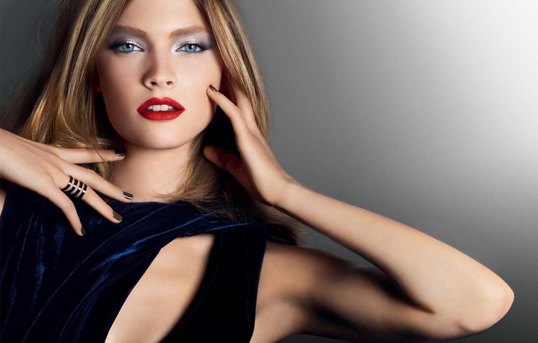 Photo wallpaper girl, style, makeup, fashion