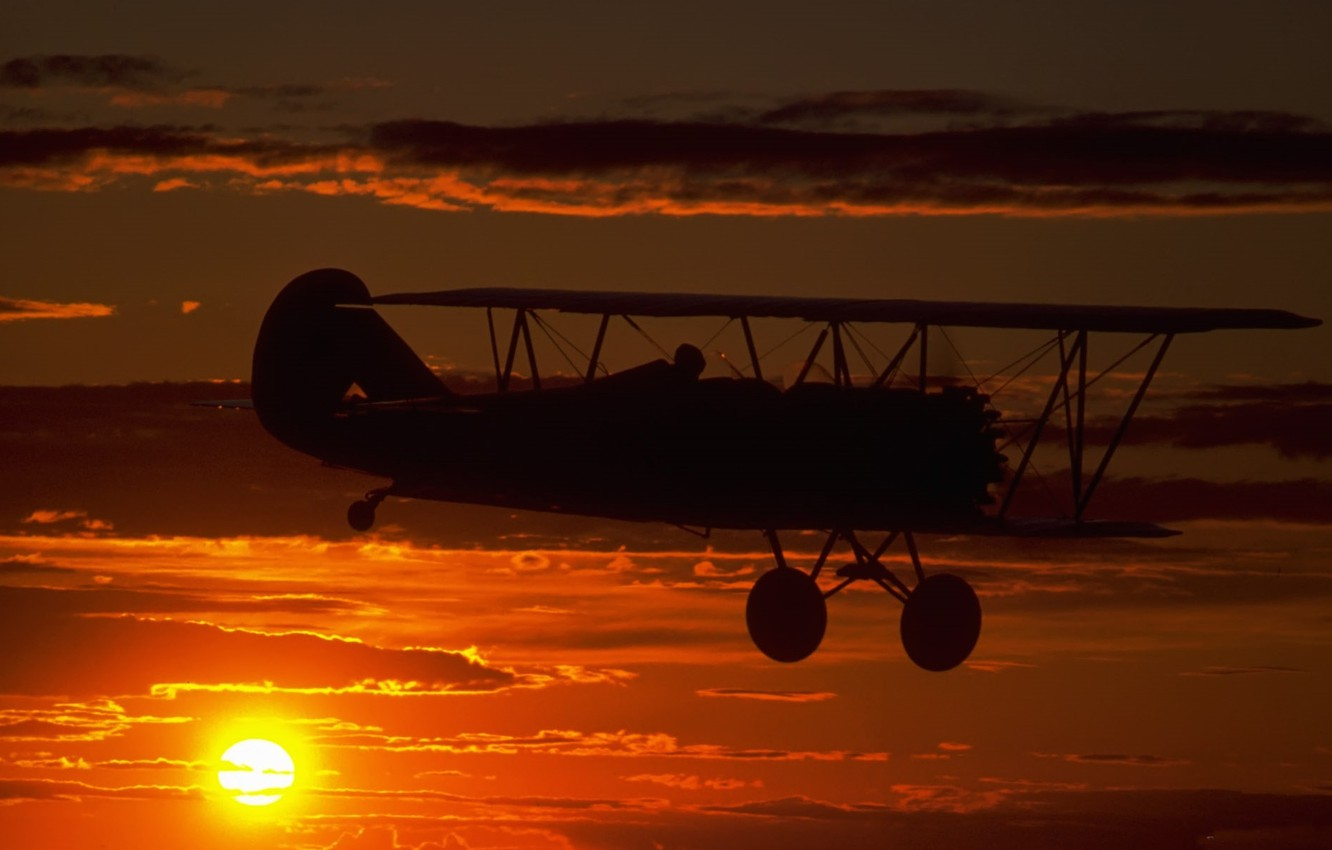 Wallpaper The Sky Clouds Flight Sunset The Plane Dal Dawn Chassis Silhouette Pilot Images For Desktop Section авиация Download
