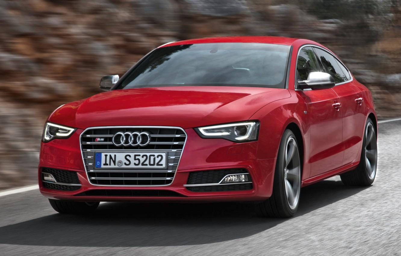 Photo wallpaper Audi, Red, Sportback, (2015)