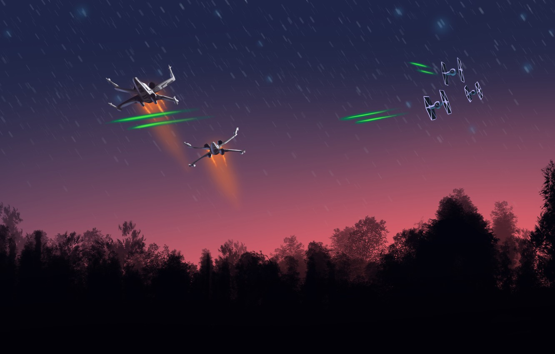 Wallpaper Star Wars Starfighter Ships X Wing Tie Fighter