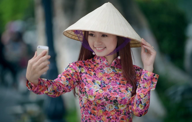 Photo wallpaper smile, mood, Asian, selfie