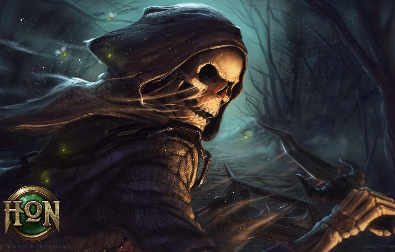 Wallpaper Forest Skull Twilight Dagger Chain Cloak