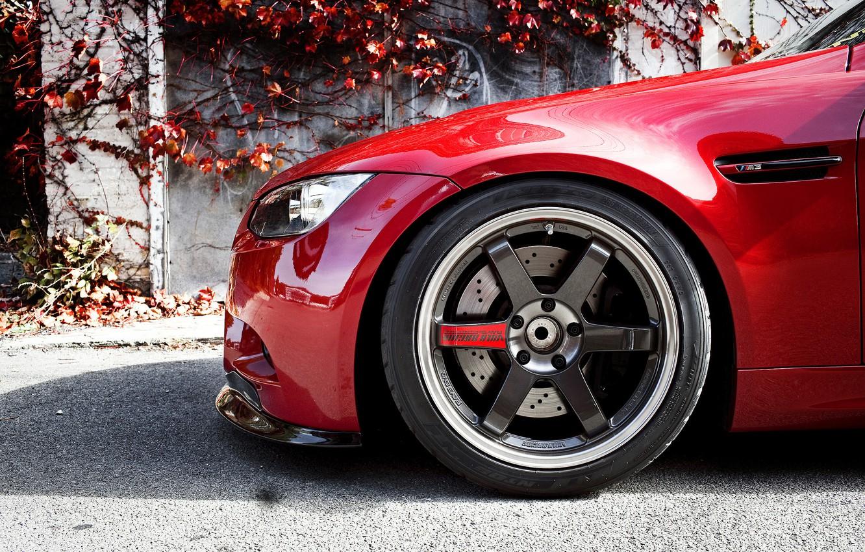Photo wallpaper BMW, wheel, BMW, drives, the front part, E90