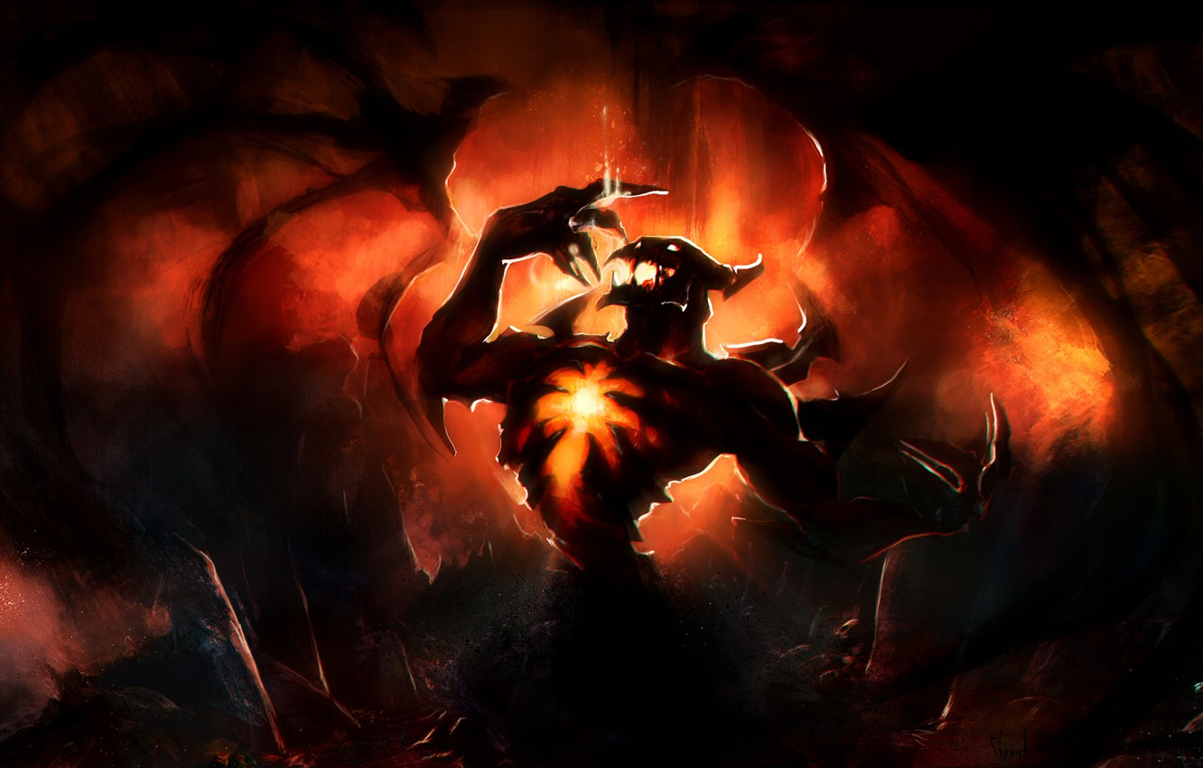 Wallpaper Wings The Demon Art Dota 2 Shadow Fiend Gemmaqw Nevermore Images For Desktop Section Igry Download
