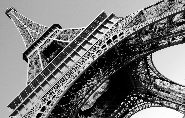 Wallpaper Paris France 1889 Black And White Eiffel Tower