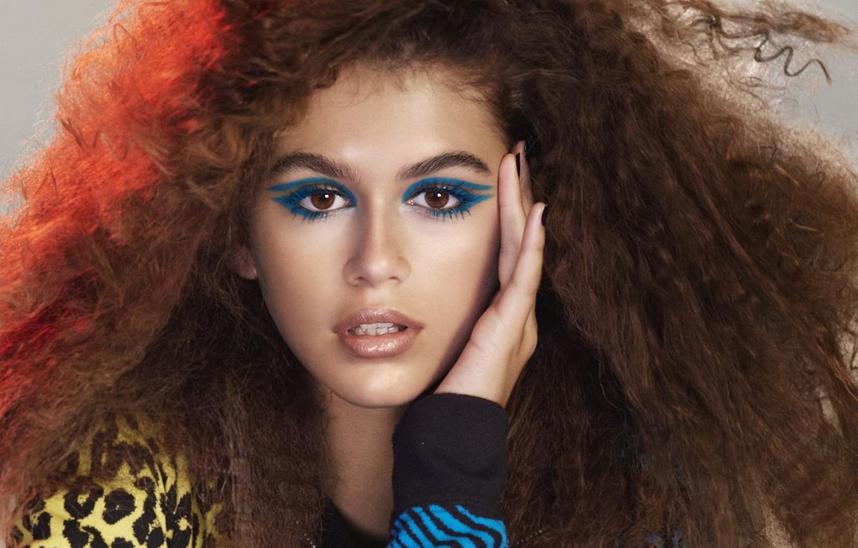 Photo wallpaper model, makeup, Kaia Gerber, Marc Jacobs beauty spring