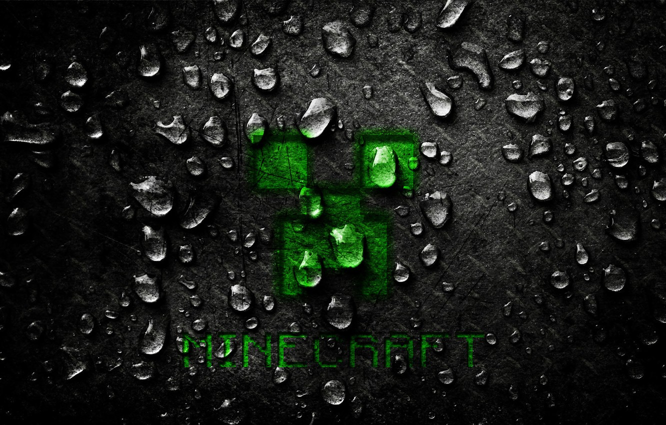 Wallpaper Drops Metal The Game Desk Scratches Minecraft Creeper Images For Desktop Section Igry Download