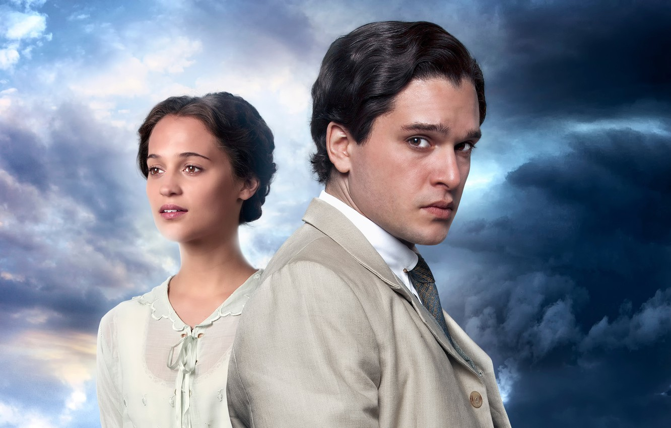 Photo wallpaper Kit Harington, Alicia Vikander, Testament of Youth, Memories of the future, separated by war, United …