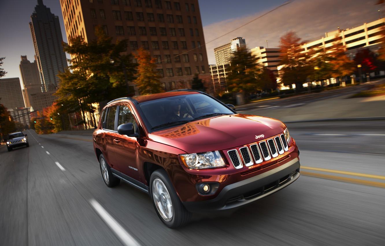 Photo wallpaper car, jeep, Jeep Compass
