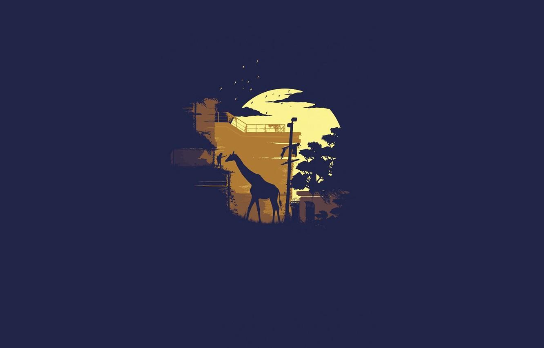 Photo wallpaper minimalism, giraffe, girl, The Last of Us, Naughty Dog, Some of us, Sony Computer Entertainment, …