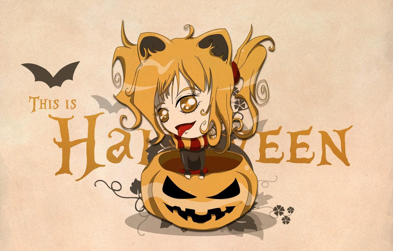 Photo wallpaper eyes, pumpkin, halloween, gold