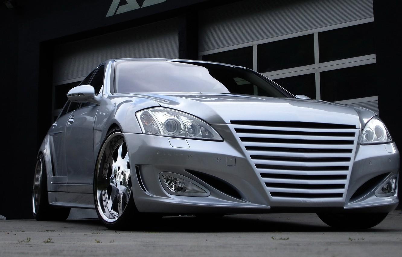 Photo wallpaper tuning, Mercedes, grey, Mercedes S-class