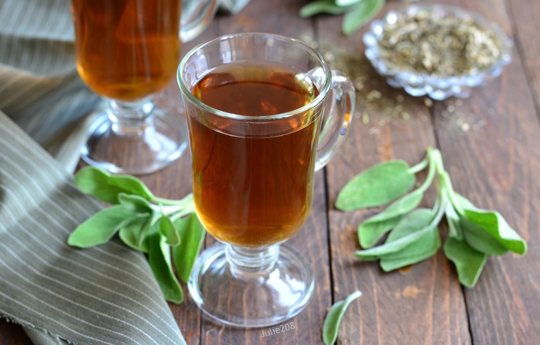 Photo wallpaper tea, drink, sage