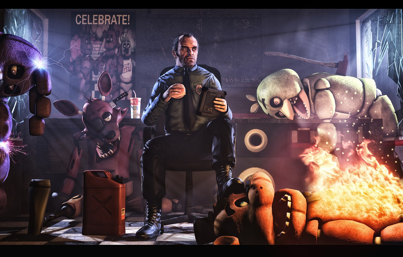 Wallpaper Gta Grand Theft Auto Trevor Phillips Five Nights At