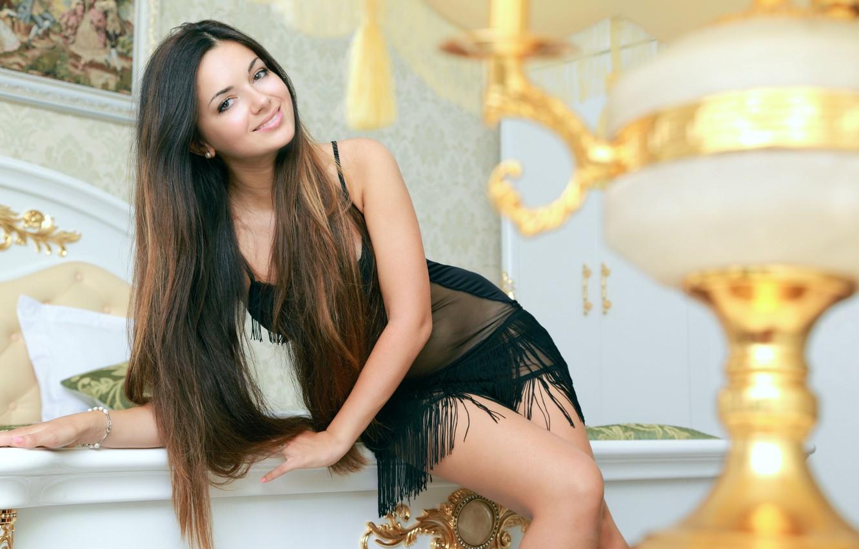 Photo wallpaper girl, smile, sweetheart, Valensia