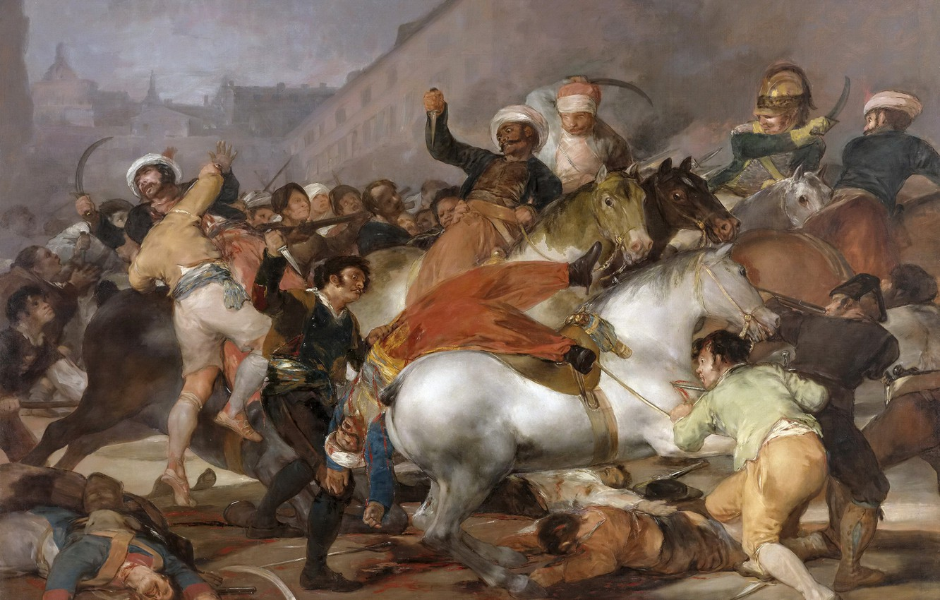 Photo wallpaper picture, battle genre, Francisco Goya, Battle with the Mamelukes, The uprising of 2 may 1808
