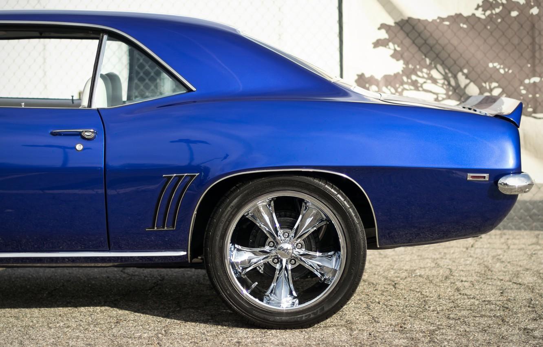 Photo wallpaper retro, Chevrolet, Camaro, side view, Muscle car