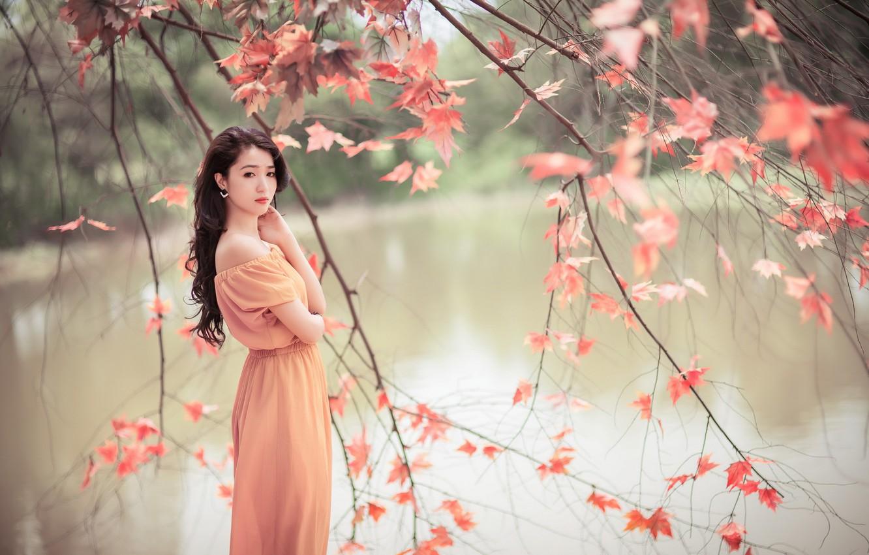Wallpaper Girl Nature Beauty Asian Images For Desktop Section Nastroeniya Download
