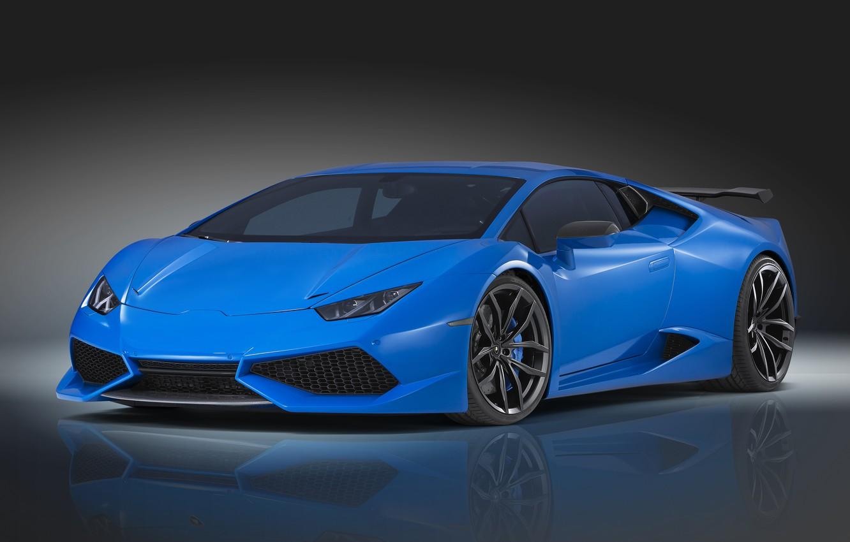 Photo wallpaper Lamborghini, blue, Lamborghini, Novitec Torado, Huracan, hurakan