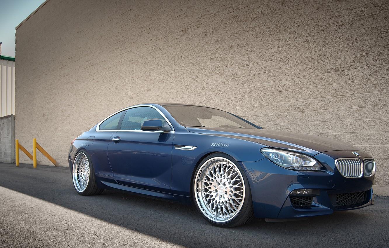 Photo wallpaper BMW, blue, coupe, 650i, F13