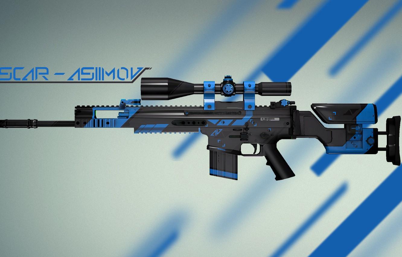 Photo wallpaper Weapons, Gun, Valve, Counter Strike, Steam, Skin, Weapon, CS:GO, Global Offensive, Workshop, Asiimov, Coridium, SCAR-20 …