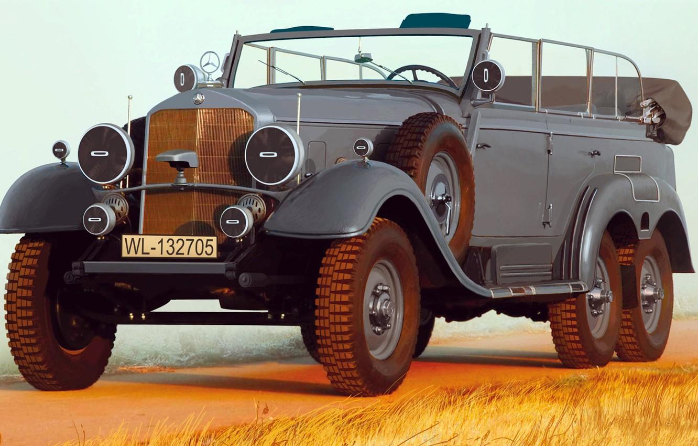 Photo wallpaper figure, Mercedes-Benz, art, W31