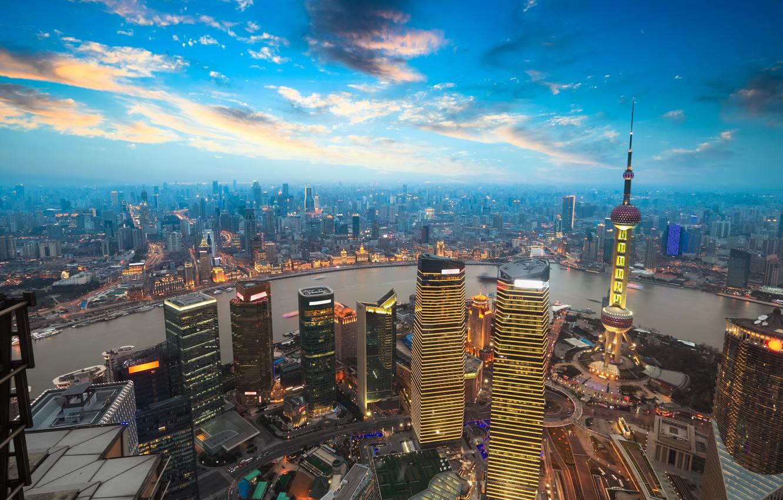 Photo wallpaper city, wallpaper, night