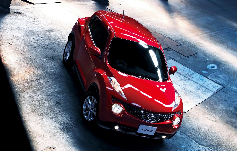 Photo wallpaper Red, Machine, Nissan, Nissan, Red, Car, Car, Cars, Juke