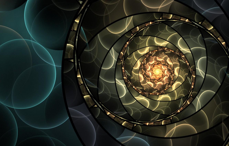 Photo wallpaper circles, abstraction, pattern, art, art, bokeh