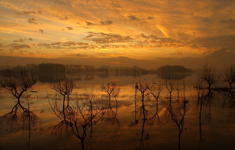 Photo wallpaper wallpaper, nature, lake