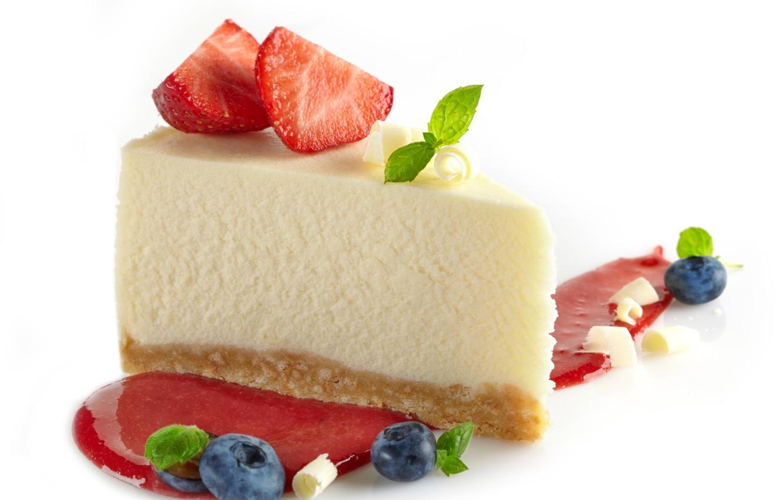 Photo wallpaper berries, the sweetness, strawberry, pie, cake, cake, mint, dessert, cakes, jam, strawberry, dessert, cheesecake, cheesecake